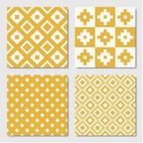 Gele Naadloze Geometrische Patronen royalty-vrije illustratie