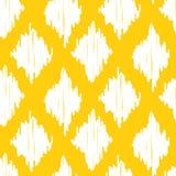 Gele naadloze het patroonachtergrond van ikatogee royalty-vrije illustratie