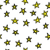 Gele naadloze sterren Royalty-vrije Stock Foto's