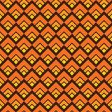 Gele naadloze vierkante patroonachtergrond Royalty-vrije Stock Afbeelding
