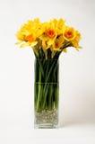 Gele narcissen in een vaas Stock Afbeelding