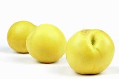 Gele nectarines Stock Afbeeldingen