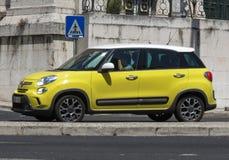 Gele Nieuwe auto 500 van Fiat Stock Foto