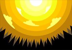 Gele ochtend Stock Foto's
