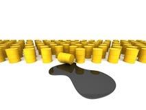 Gele olievat en pool Royalty-vrije Stock Foto's
