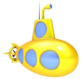 Gele onderzeeër. Royalty-vrije Stock Foto's