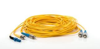 Gele optische kabel   Royalty-vrije Stock Fotografie