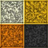 Gele, oranje, grijze en witte marmeren texturen, vierkante tegel royalty-vrije illustratie