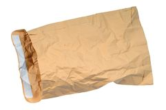 Gele oude envelop Royalty-vrije Stock Afbeelding
