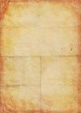 Gele pakpapierpagina Royalty-vrije Stock Foto