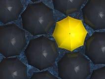 Gele paraplu royalty-vrije illustratie