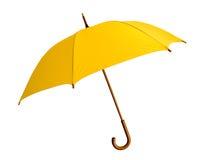 Gele paraplu Royalty-vrije Stock Afbeelding