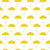 Gele paraplu's naadloze achtergrondpatroon vectorillustratie royalty-vrije illustratie