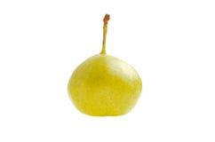 Gele peer op een witte geïsoleerde achtergrond Stock Foto