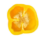 Gele peper (het Knippen weg) Royalty-vrije Stock Afbeeldingen