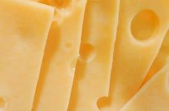 Gele plakken van kaas royalty-vrije stock afbeeldingen