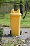 Gele plastic bak royalty-vrije stock afbeeldingen