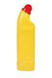 Gele plastic fles Royalty-vrije Stock Fotografie