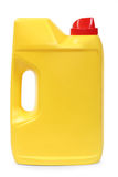 Gele plastic gallon Royalty-vrije Stock Afbeeldingen