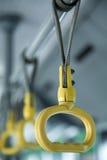 Gele plastic handvatten Royalty-vrije Stock Afbeelding
