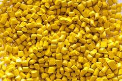 Gele plastic korrels Royalty-vrije Stock Afbeelding