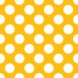 Gele Polka Dot Seamless Paper Pattern vector illustratie