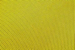 Gele polyesterstof Stock Afbeelding