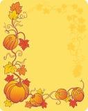 Gele pompoenachtergrond stock illustratie