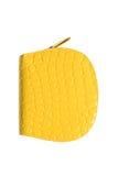 Gele portefeuille Royalty-vrije Stock Afbeeldingen