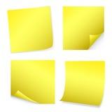 Gele Post-it vector illustratie