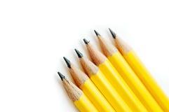 Gele potloden Royalty-vrije Stock Afbeeldingen