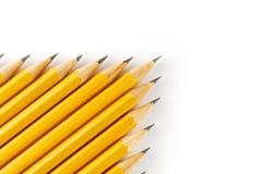 Gele potloden Stock Afbeeldingen