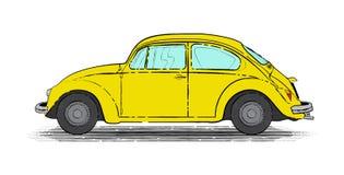 Gele retro auto stock foto's