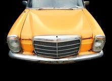 Gele retro auto Stock Afbeelding