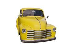Gele retro bestelwagen Royalty-vrije Stock Afbeelding