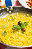 Gele Risotto Royalty-vrije Stock Afbeelding