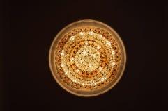 Gele ronde lichten royalty-vrije stock foto