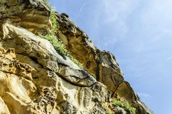 Gele rots Stock Afbeeldingen