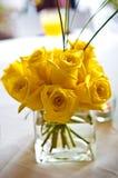 Gele rozen Stock Foto
