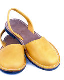 Gele sandals Royalty-vrije Stock Foto's