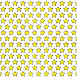 Gele schetsmatige sterren Stock Foto's