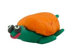 Gele Schildpad in het glimlachen actie Stock Afbeelding