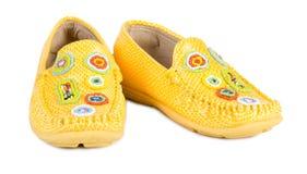 Gele schoenen Royalty-vrije Stock Foto
