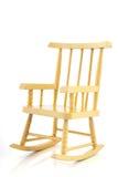 Gele schommelstoel Stock Afbeelding