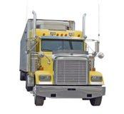 Gele Semi Vrachtwagen Stock Fotografie