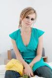 Gele sjaal Royalty-vrije Stock Foto