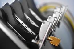Gele Sleutel van serverrek Royalty-vrije Stock Foto's