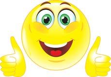 Gele smiley toont aan dat allen goed is Royalty-vrije Stock Fotografie