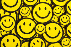 Gele smileys Stock Foto's
