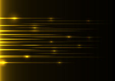 Gele snelheidslaser Stock Afbeelding